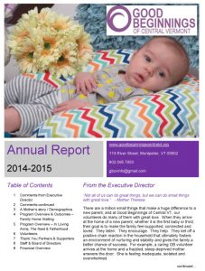 Good Beginnings Annual Report FY 14-15